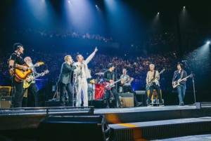 U2 and The Eagles of Death Metal shared the stage at the close of U2's HBO concert special, recorded live in Paris on 7 December.